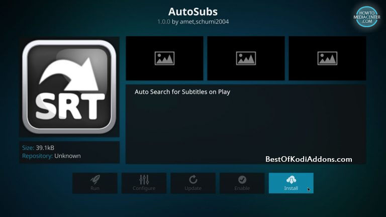 How to add subtitles to kodi krypton complete tutorial with pictures after installing autosubs whenever you will play any video of tv show or movie pop up will automatically opens and shows several subtitles file ccuart Image collections